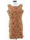 Womens Mod Knit Cocktail Shift Dress