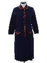 Womens Mod Wool Knit Suit