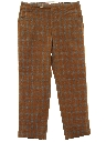 Mens Mod Leisure Style Plaid Wool Pants