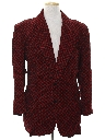 Mens Corduroy Disco Blazer or Sportcoat or Smoking Style Jacket