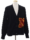 Mens Cardigan Letterman Sweater
