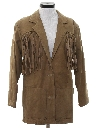 Womens Western Leather Fringe Jacket