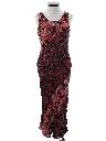Womens Maxi Print Dress
