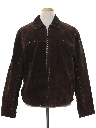 Mens Mod Suede Leather Jacket