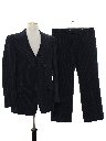 Mens Pinstriped Disco Style Suit