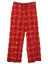 Womens Plaid Flared Knit Pants