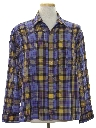 Mens Mod Plaid Sport Shirt