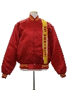 Mens Military Marines Satin Baseball Jacket