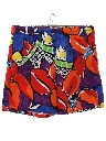 Mens Totally 80s Jams Baggy Board Shorts