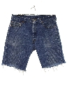 Mens Levis 501 Cut Off Denim Shorts