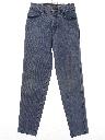 Womens Western Style Tapered Leg Denim Jeans Pants