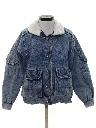 Womens Acid Washed Denim Jacket