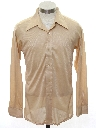 Mens/Boys Shiny Nylon Solid Disco Shirt