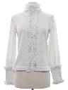 Womens Mod Edwardian Style Knit Shirt