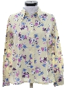Womens Print Disco Style Cotton Blend Shirt
