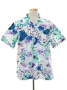 Mens Totally 80s Hawaiian Style Print Sport Shirt