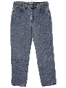Womens Loose Fit Tapered Leg Denim Jeans Pants