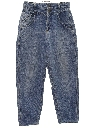 Womens Baggy Totally 80s Tapered Leg Denim Jeans Pants