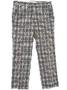 Mens Totally 80s Preppy Plaid Golf Pants