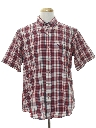 Mens Preppy Plaid Shirt