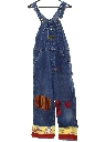 Womens Denim Hippie Patchwork Overall Jeans Pants