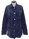 Womens Overdyed Shirt Jacket