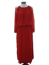 Womens Totally 80s Designer Maxi Cocktail Dress
