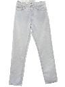 Womens Designer Tapered Leg Denim Jeans Pants