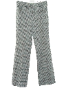 Mens Flared Leisure Stye Plaid Disco Pants