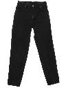 Womens Tapered Leg Denim Jeans Pants