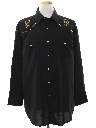 Mens Rodeo Style Embroidered Western Shirt