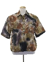 Mens Totally 80s Print Resort Wear Style Shirt