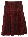 Womens Wool Plaid Skirt