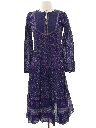 Womens Prairie Style Hippie Dress