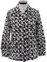 Womens Mod Print Disco Shirt