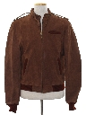 Mens Suede Leather Members Only Style Jacket