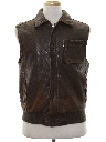 Mens Totally 80s Leather Vest