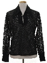 Mens Mod Sheer Disco Shirt