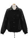 Mens Totally 80s Leather Baseball Style Jacket
