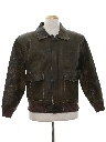 Mens Bomber Leather Flight Style Jacket