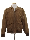Mens Bomber Suede Leather Flight Style Jacket