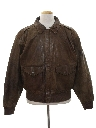 Mens Totally 80s Bomber Leather Flight Style Jacket