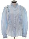 Womens Ruffled Prairie Style Western Shirt
