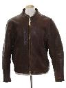 Mens Mod Cafe Racer Leather Jacket