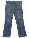 Mens Flared Leg Denim Jeans Pants