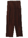Mens Totally 80s Pleated Baggy Slacks Pants