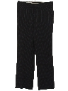 Mens Pinstriped Flat Front Slacks Pants