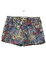 Unisex Denim Peanuts Print Shorts