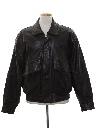 Mens Totally 80s Leather Bomber Jacket