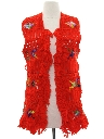 Womens Crocheted Hippie Vest